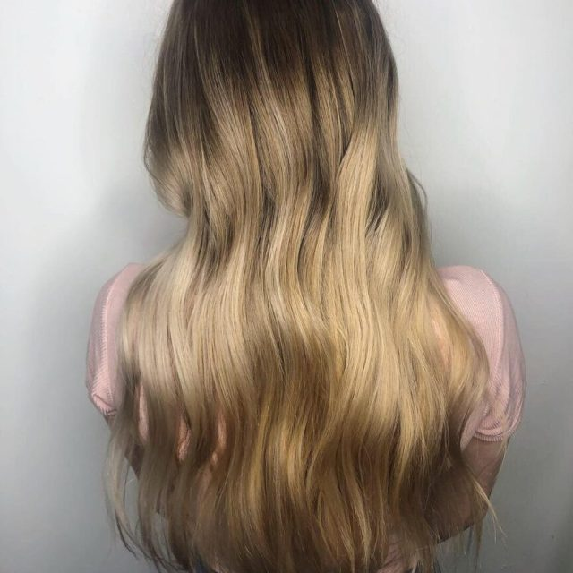 ombre balayage for low maintenance