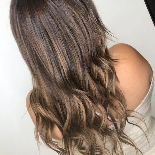 Partial Hair Highlights Dark Brown Light Brown