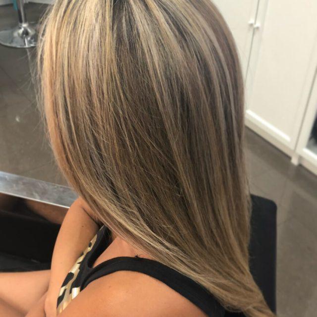 long hair full highlights