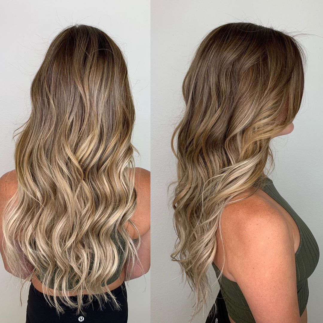 Balayage Tape In Hair Extensions Las Vegas Before After 01