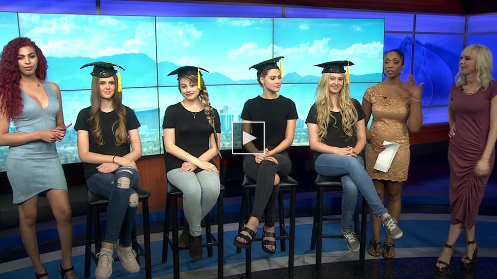 Hottie Hair on Channel 3 News for Graduation Day Hair