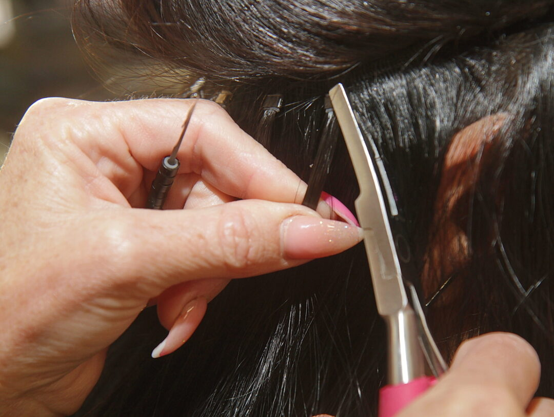 Installing Beaded Weft Hair Extensions