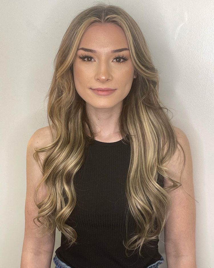 Halo Hair Extensions Installed On Women With Thin Fine Hair 1