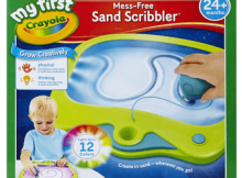 my first crayola mess free sand scribbler review