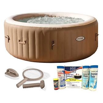 Intex PureSpa 4-Person Inflatable Spa Hot Tub with