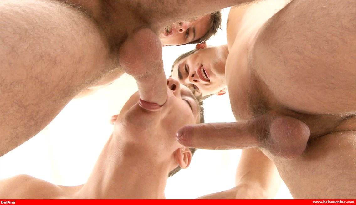 BelAmi-Classics: 24 Boys Bareback Orgy - Oral Sex