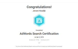 Google Adwords Search Certified Professional Houdyk Com