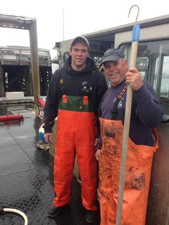 Joe and Chris on deck