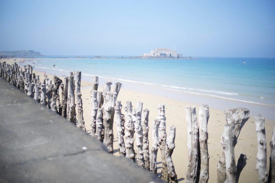 La plage du sillon à Saint Malo
