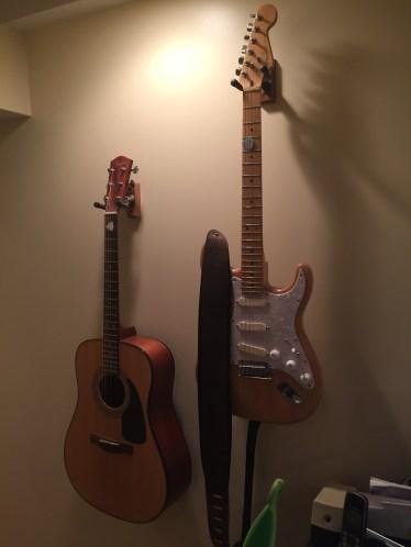 A few of the guitars