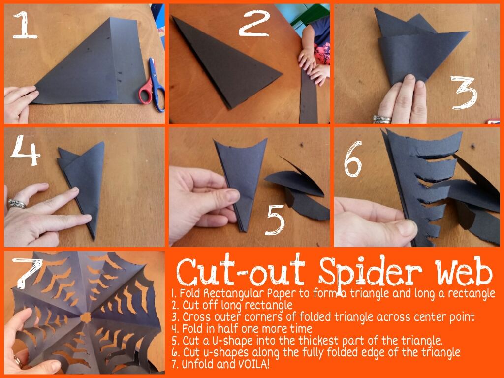 Cut Out Spider Web With Step By Step Instructions The