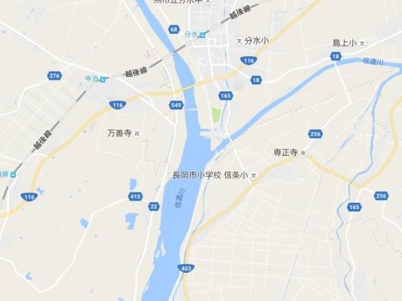 信濃川地図