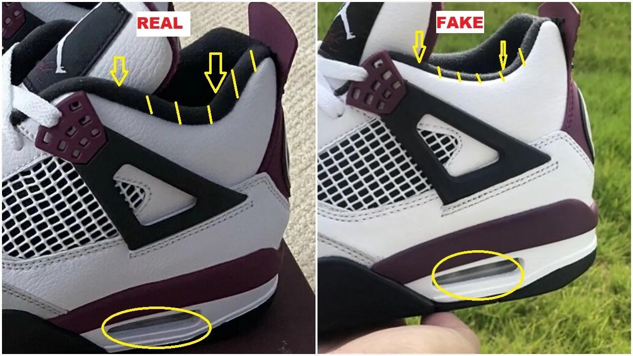 quickly spot the fake air jordan 4 psg