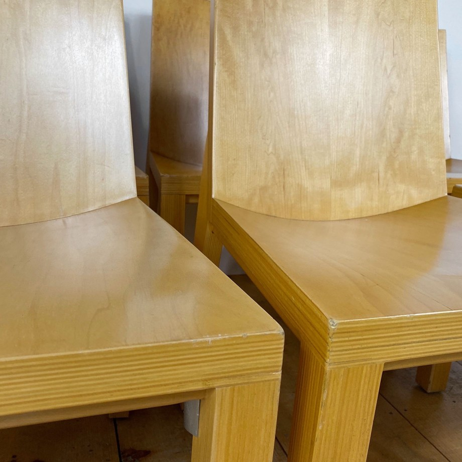 19100713 – Set of 8 Library Chairs Dakota Jackson – 3