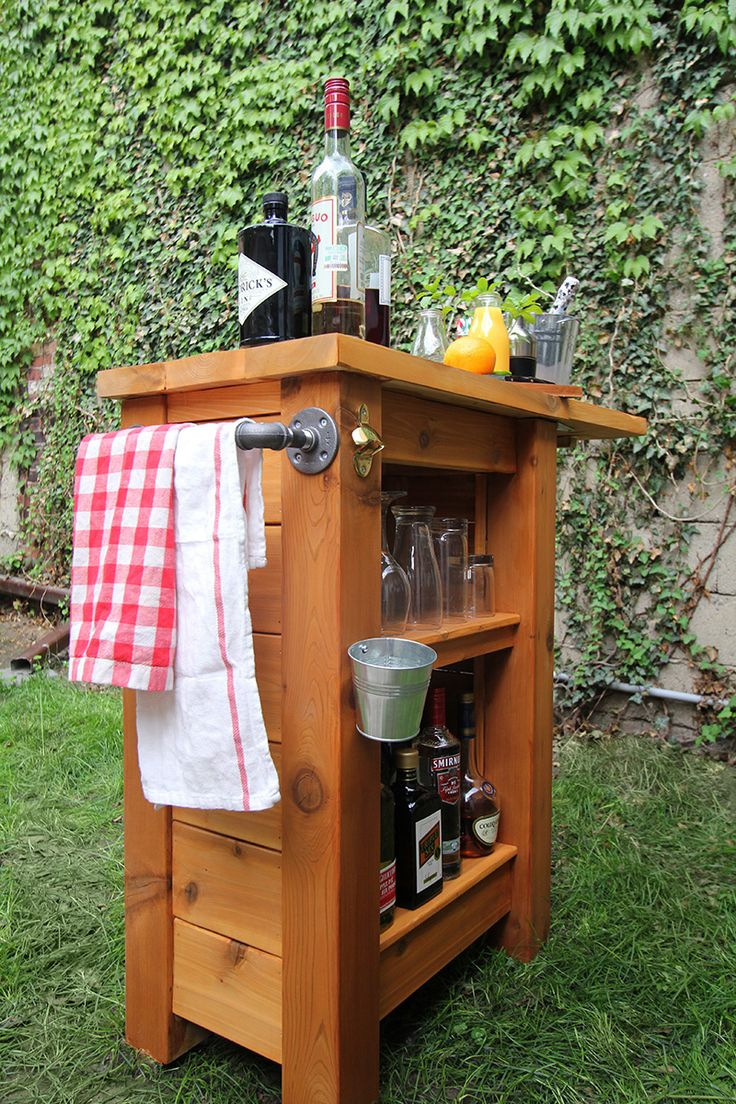 Portable outdoor bar designs makes a perfect addition ... on Outdoor Bar Patio Ideas  id=61947