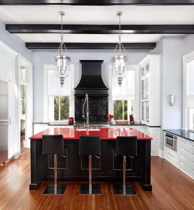 Red Kitchen Decor Design Ideas