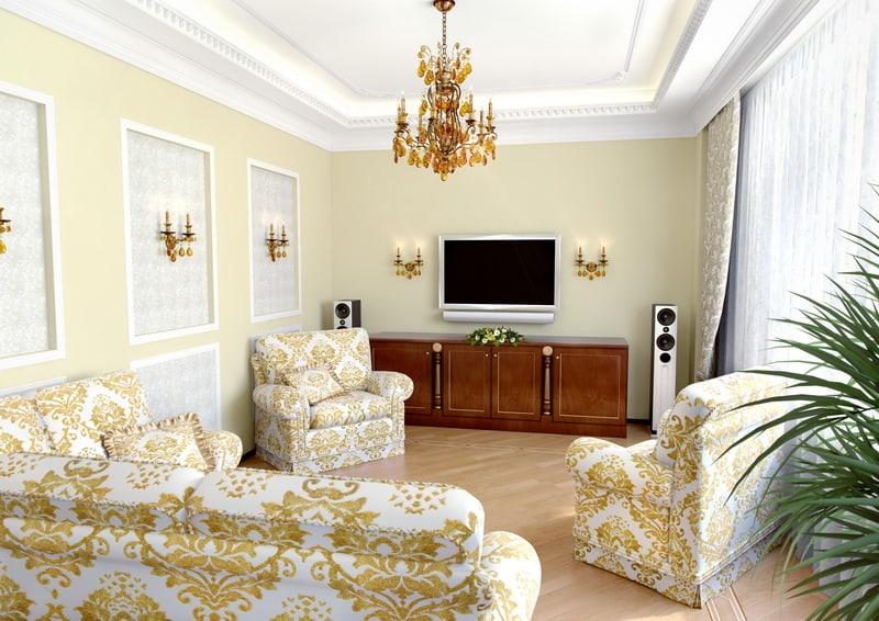 Living Room Design Ideas: Baroque Living Room