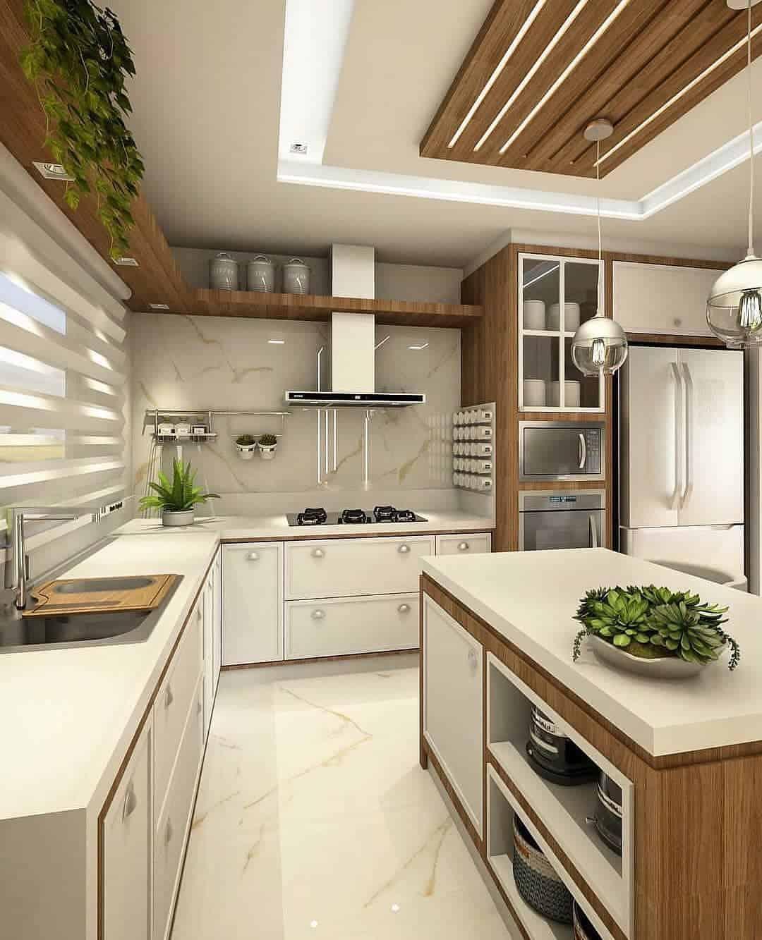 Modern Kitchens 2020: Cottage Style Kitchen Ideas (35 Photos) on Model Kitchen Ideas  id=97880