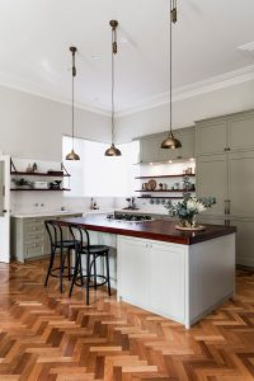 kitchen-renovation-perth-interior-designer-Staple-Design-Rachael-Pearse-herringbone-floor-parquetry-painted-cabinets-brass-pendants