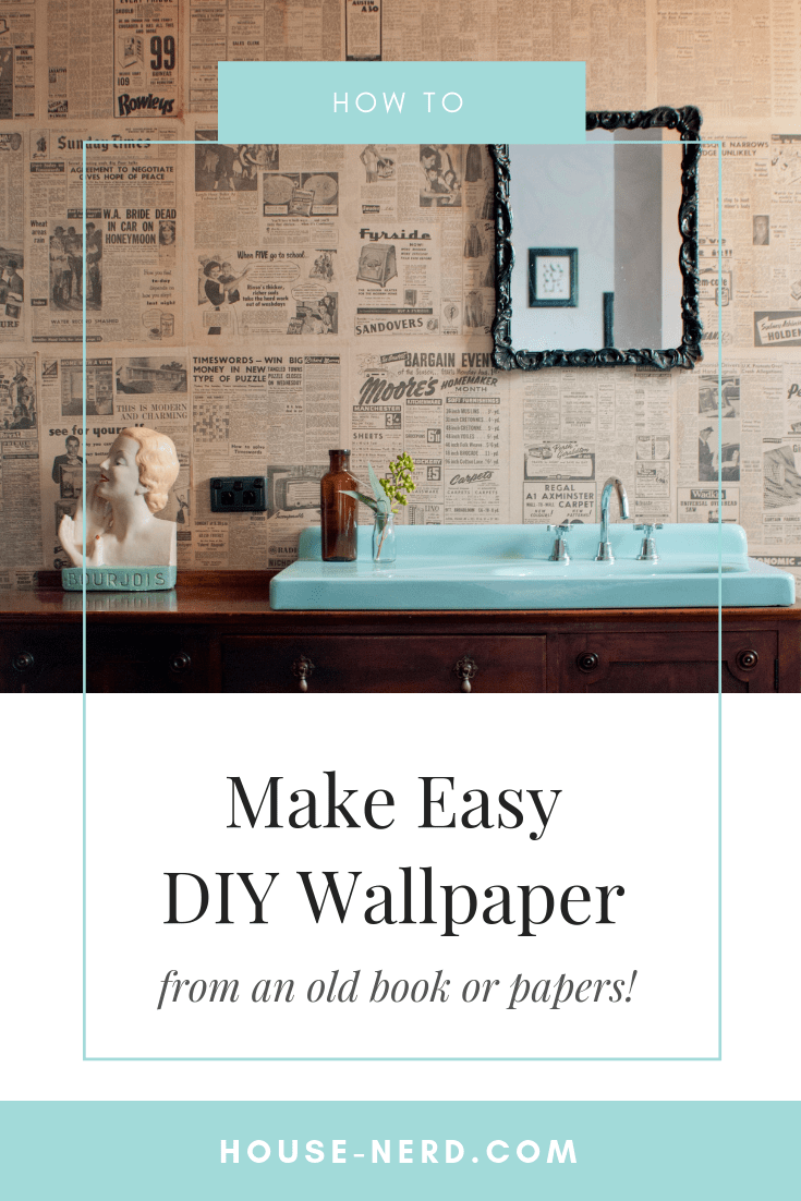 how-to-make-wallpaper-from-an-old-book-DIY