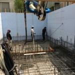 喜久井の家007 基礎コンクリート打設