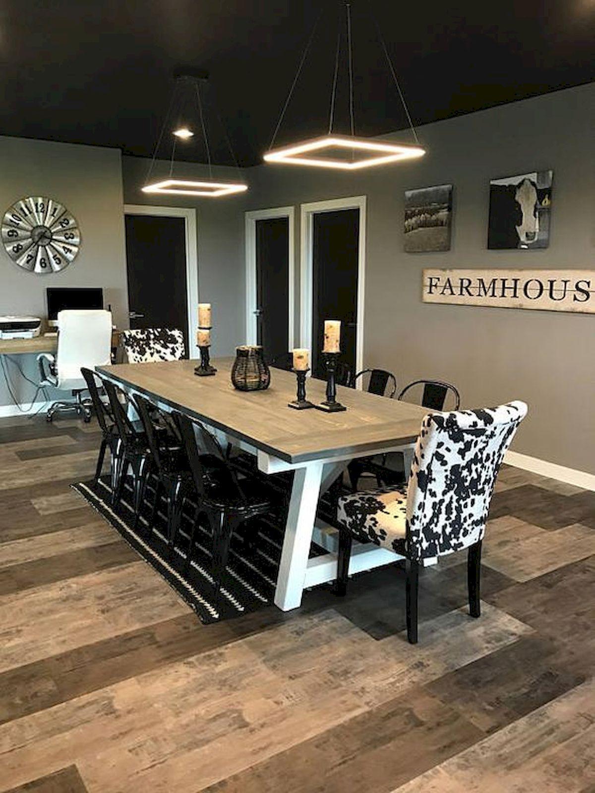 40 Adorable Farmhouse Dining Room Design And Decor Ideas (2)