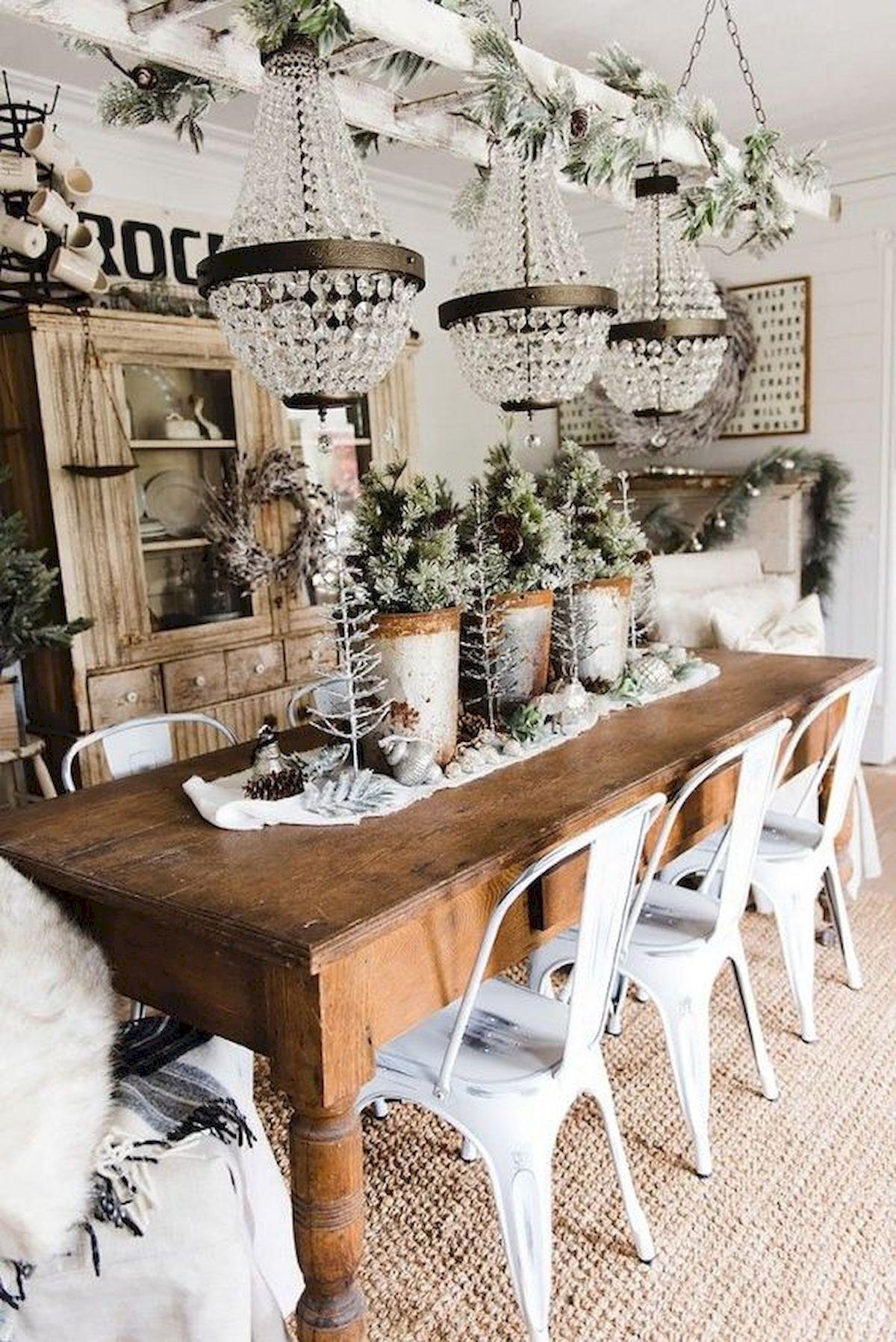 40 Adorable Farmhouse Dining Room Design And Decor Ideas (31)