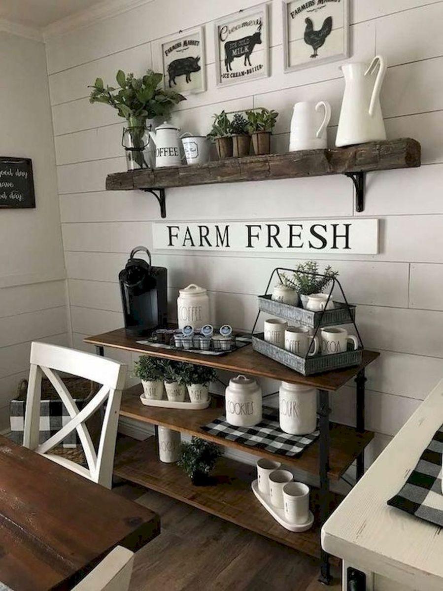 40 Adorable Farmhouse Dining Room Design and Decor Ideas (33)