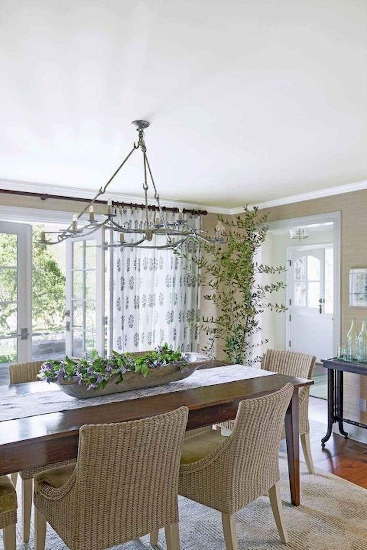 40 Adorable Farmhouse Dining Room Design And Decor Ideas (37)
