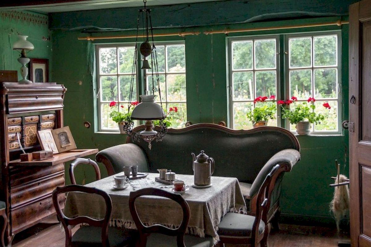40 Adorable Farmhouse Dining Room Design and Decor Ideas (40)