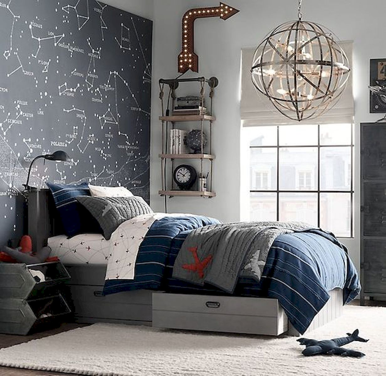 45 Cool Boys Bedroom Ideas to Try at Home (19) - house8055.com