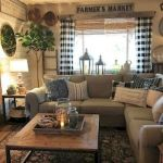 50 Cozy Farmhouse Living Room Design and Decor Ideas (28)