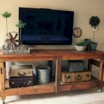 50 Awesome Pallet Furniture TV Stand Ideas for Your Room Home (42)
