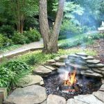 55 Awesome Backyard Fire Pit Ideas For Comfortable Relax (24)
