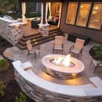55 Awesome Backyard Fire Pit Ideas For Comfortable Relax (33)