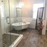 50 Awesome Modern Farmhouse Bathroom Remodel Ideas (3)