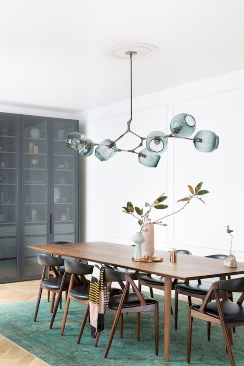 80 Elegant Modern Dining Room Design and Decor Ideas (23)