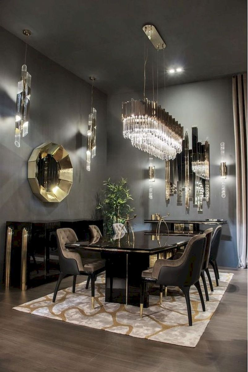80 Elegant Modern Dining Room Design and Decor Ideas (40)