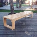 40 Fantastic Outdoor Bench Ideas For Backyard and Front Yard Garden (22)