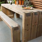 40 Fantastic Outdoor Bench Ideas For Backyard and Front Yard Garden (26)