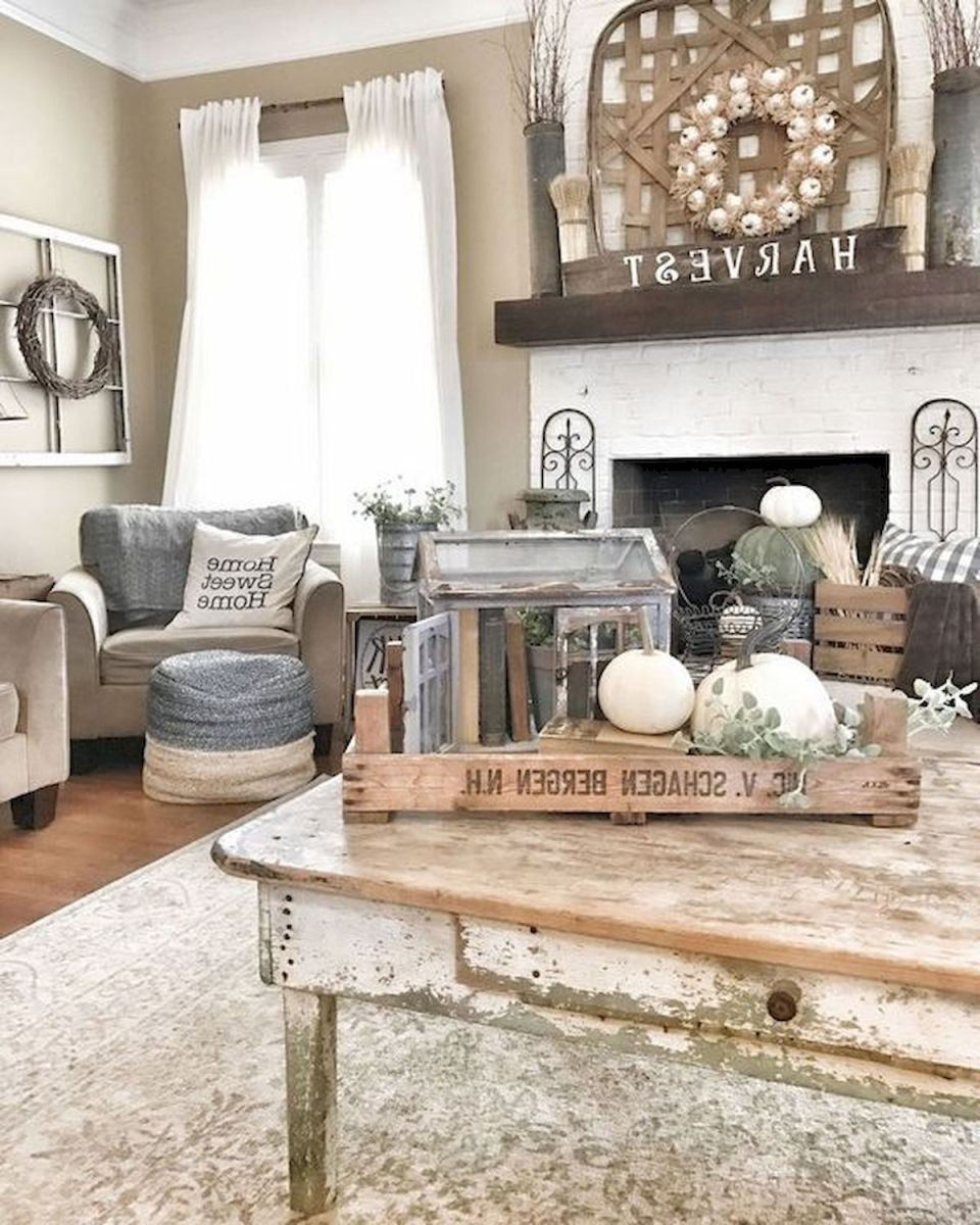 40 Awesome Fall Decoration Ideas For Living Room (27)