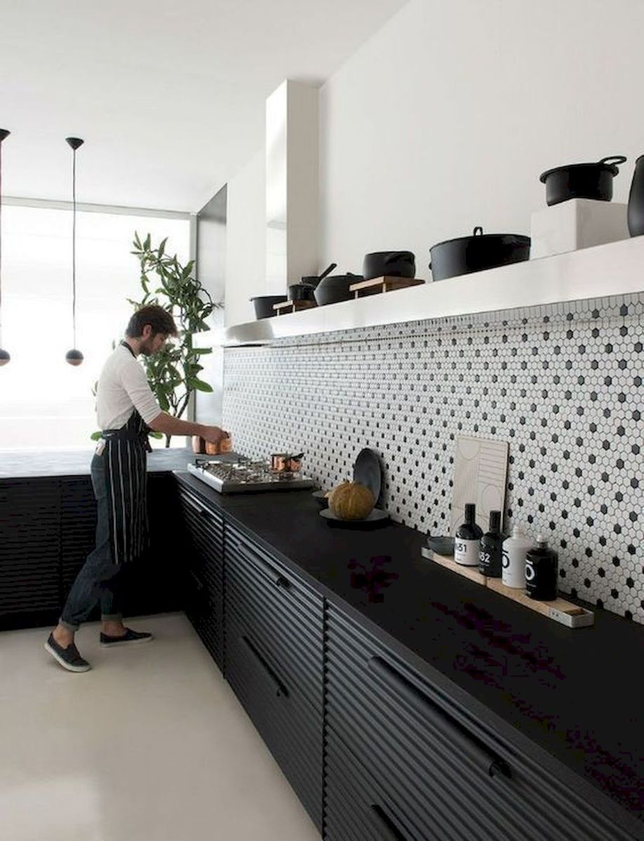 30 Stunning Black Kitchen Ideas You Will Love (22)