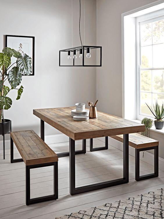 20 Best Farmhouse Dining Room Table Decor Ideas (17)