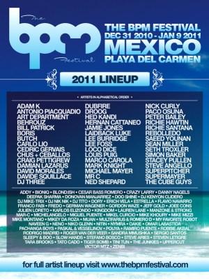 """Resultado de imagen para """"bpm festival 2010"""" lineup"""
