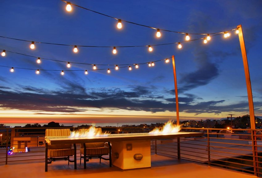 deck lighting ideas photos