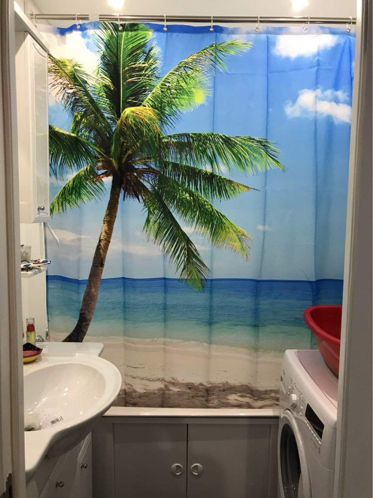 beach theme curtain
