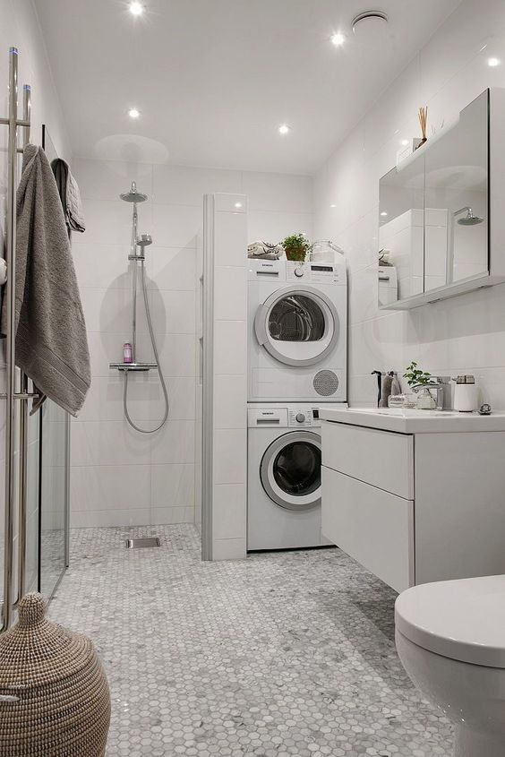 Best Laundry Room Ideas: 21 Brilliant Unfinished And Finished Basement Laundry Room