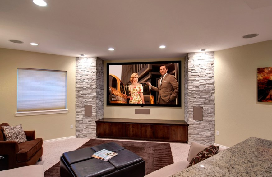 basement home theater room