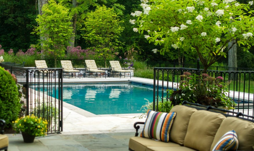 pool pump fence ideas