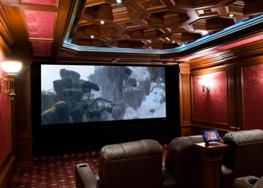 basement home theater setup